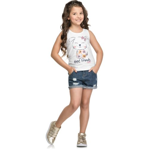 Blusa Regata Mineral Kids Baby Branco - lojamarisol 74da79c8769